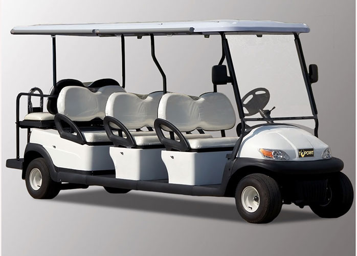 Street Legal 8 Seater Golf Cart 3.7kw KDS Motor For Airport Passenger