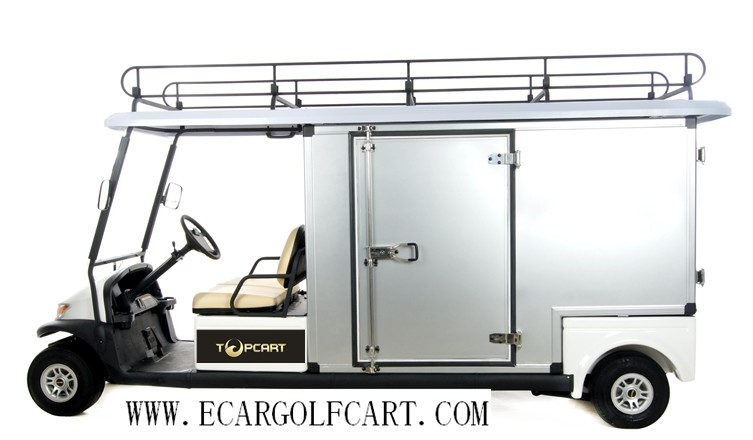 Eco Friendly Cargo Utility Golf Cart , Club Car Utility Vehicle For Two Passenger