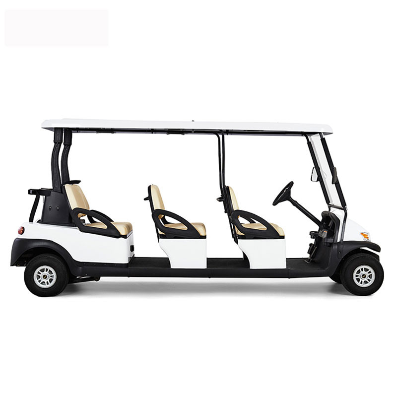 Comfortable Electric 6 Passenger Golf Carts For Mountain Energy Saving